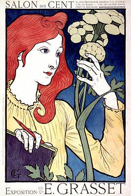 Vintage French Advertising Art Nouveau Salon Des Cent Poster