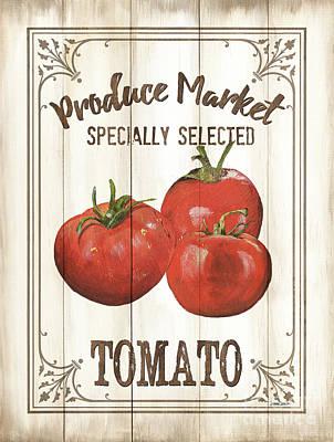 Vintage Fresh Vegetables 4 Poster by Debbie DeWitt