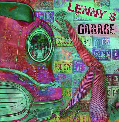 Poster featuring the digital art Vintage Garage Print by Greg Sharpe