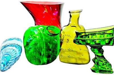 Vintage Glass Twist Poster