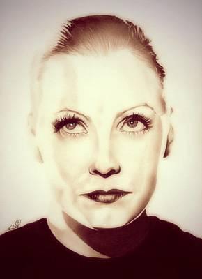 Vintage Greta Garbo Poster by Fred Larucci
