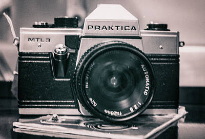 Vintage Gritty Camera Look Poster