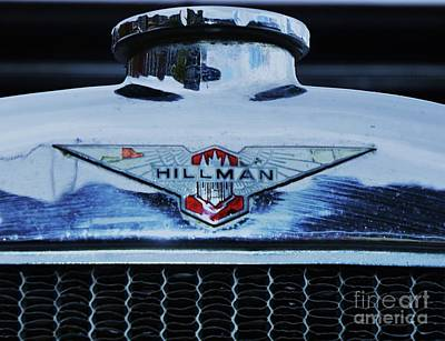 Collectible Vintage Hillman Logo Poster