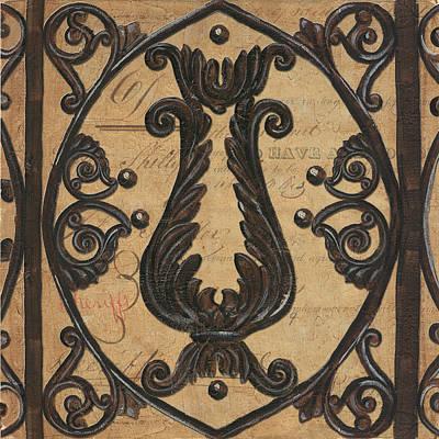Vintage Iron Scroll Gate 2 Poster by Debbie DeWitt
