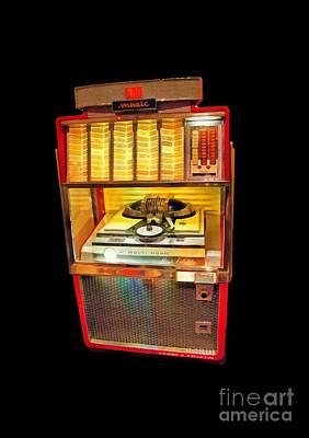 Vintage Jukebox Tee Poster by Edward Fielding