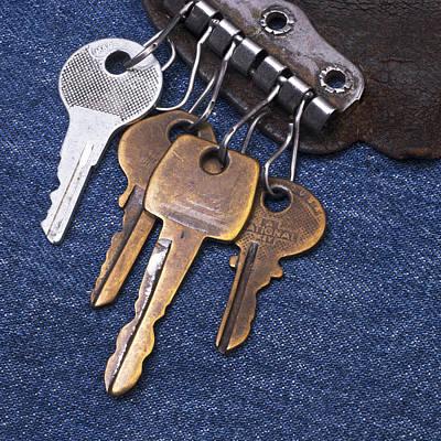 Vintage Key Holder With Keys Poster by Donald  Erickson