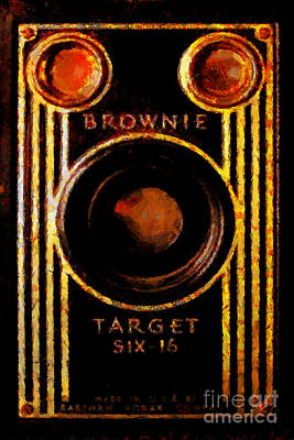Vintage Kodak Brownie Target Six-16 Camera Poster by Wingsdomain Art and Photography