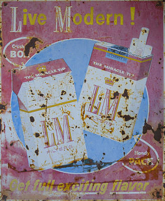 Vintage L And M Cigarette Sign Poster