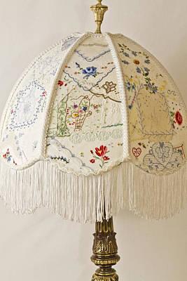 Vintage Lampshade Handstitched Poster
