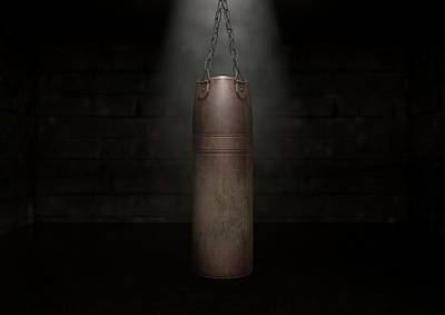 Vintage Leather Punching Bag Poster