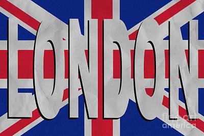 Vintage London Poster Poster by Edward Fielding