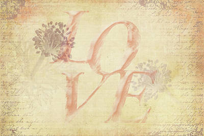 Vintage Love Poster by Caitlyn Grasso