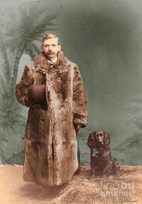 Poster featuring the photograph Vintage Man And Spaniel Dog by Lyric Lucas