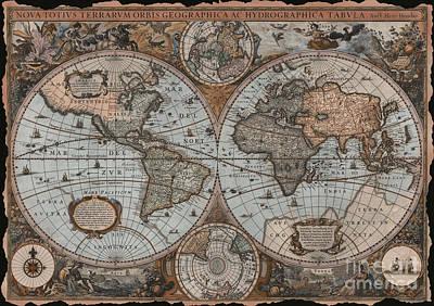 Vintage Map Poster by Aimee Stewart