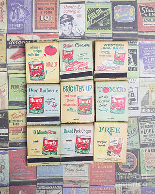 Poster featuring the photograph Vintage Matchbooks by Edward Fielding