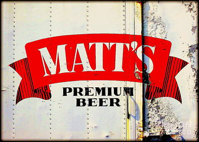 Vintage Matt's Premium Beer Sign Poster