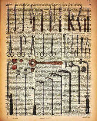 Vintage Medical Instruments Poster by Jacob Kuch