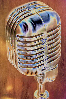 Vintage Microphone Poster