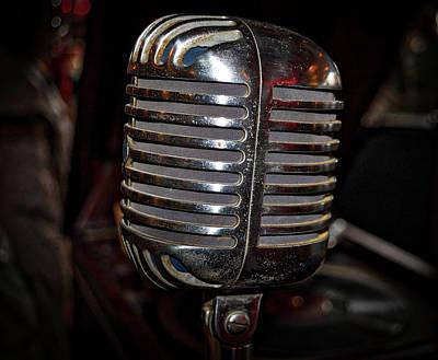 Vintage Microphone Poster by Paul Brennan