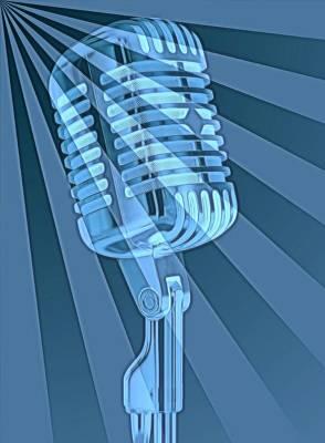 Vintage Microphone Pop Art Poster by Dan Sproul