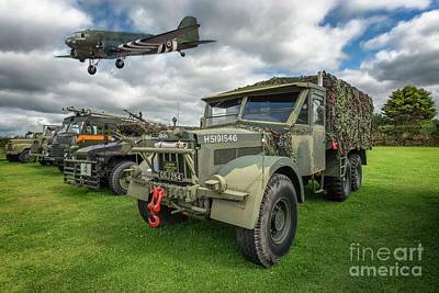 Vintage Military Transport Poster