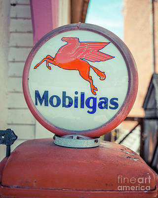 Vintage Mobil Gas Pump Poster by Edward Fielding