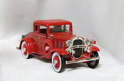 Poster featuring the photograph Vintage Model Fire Chiefcar by Linda Phelps