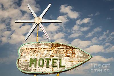 Vintage Monterey Motel Neon Sign Poster