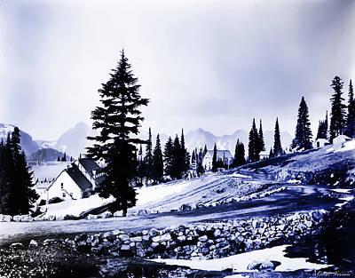 Vintage Mount Rainier Lodge Early 1900 Era... Poster