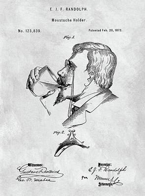 Vintage Moustache Holder Patent Poster by Dan Sproul