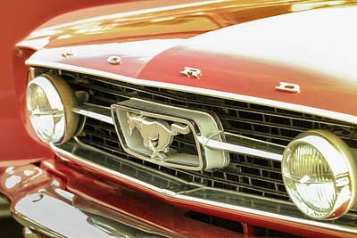 Vintage Mustang Poster by Caitlyn Grasso