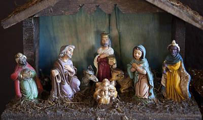 Vintage Nativity Scene Poster by Marilyn Hunt