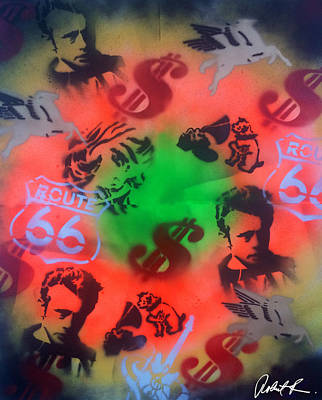 Vintage Nostalgia 2015 By Robert E. Rodriguez Poster by Robert R Splashy Art Abstract Paintings