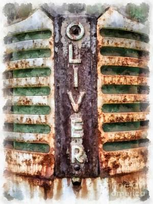 Vintage Oliver Tractor Grill Poster