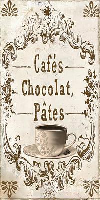 Vintage Paris Cafe Sign Poster