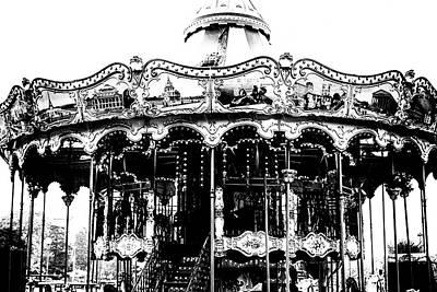 Vintage Paris Carousel Poster by Georgia Fowler