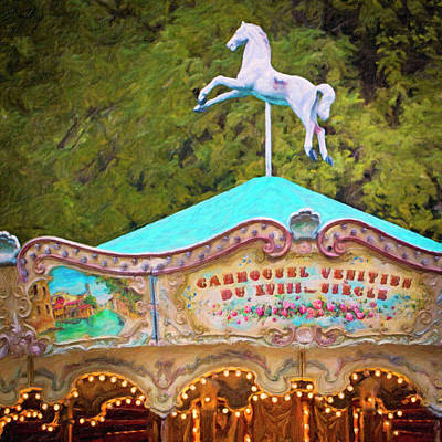 Poster featuring the photograph Vintage Paris Carousel by Melanie Alexandra Price