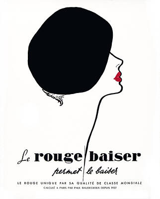 Vintage Paris Cosmetics Poster by Mindy Sommers