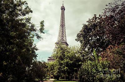 Vintage Paris Landscape Poster