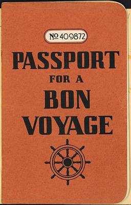 Vintage Passport Poster by Gillham Studios