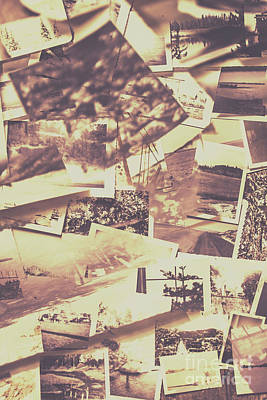 Vintage Photo Design Abstract Background Poster