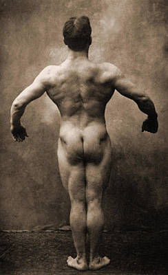 Vintage Photo Of Lionel Strongfort, 1910 Poster by German School