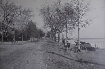 Vintage Photograph 1902 Front Street New Bern Nc Poster by Virginia Coyle
