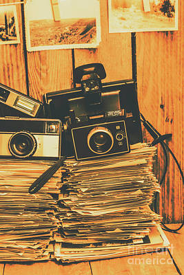 Vintage Photography Stack Poster