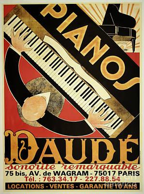Vintage Piano Art Deco Poster