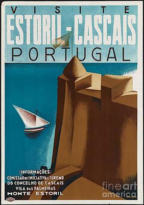 Vintage Portugal Travel Poster Poster