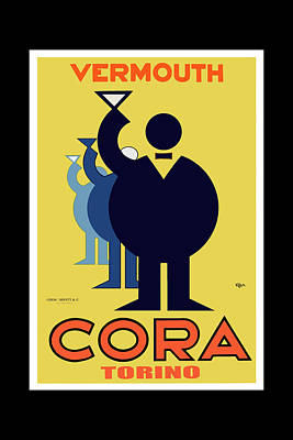 vintage poster Cora Vermouth Poster