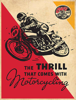 Vintage Poster - Motorcycling Poster by Vintage Images