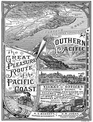 Vintage Poster - Pacific Coast Poster by Vintage Images