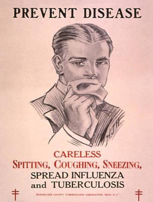Vintage Poster - Prevent Disease Poster by Vintage Images